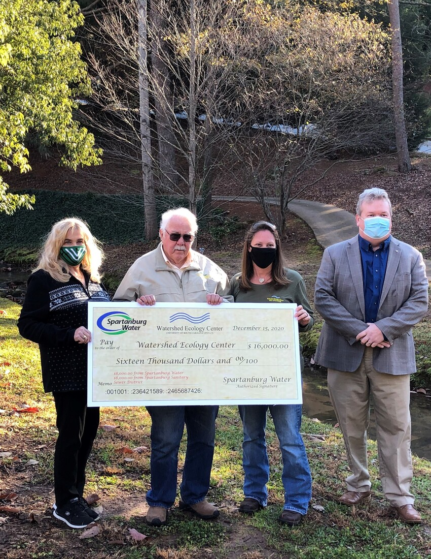 Spartanburg Water grant aims to support resilient efforts by Watershed Ecology Center